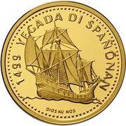 100 Gulden - Beatrix (Discovery of Curaçao) – reverse