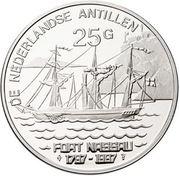 25 Gulden - Beatrix (Fort Nassau) – reverse