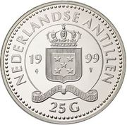 25 Gulden - Beatrix (Discovery of Curaçao) – obverse