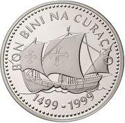 25 Gulden - Beatrix (Discovery of Curaçao) – reverse