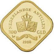 300 Gulden - Juliana (Abdication) – reverse