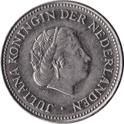 1 Gulden - Juliana -  obverse