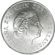 2½ Gulden - Juliana – obverse