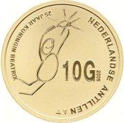 10 Gulden - Beatrix (Regeringsjubileum) -  reverse