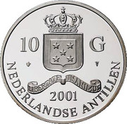 10 Gulden - Beatrix (Rouble) – obverse
