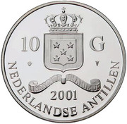 10 Gulden - Beatrix (Wilhelmina 10 Guilder) – obverse