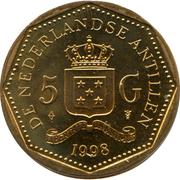 5 Gulden - Beatrix – reverse