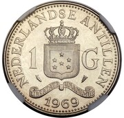 1 Gulden - Juliana (Pattern) – reverse
