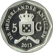 5 Gulden - Beatrix (Curaçao North Sea Jazz Festival) – obverse