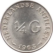 ¼ Gulden - Juliana – reverse