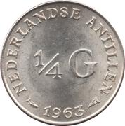 ¼ Gulden - Juliana -  reverse
