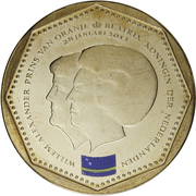 5 Gulden - Willem-Alexander / Beatrix (Curacao flag) – obverse