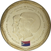 5 Gulden - Willem-Alexander / Beatrix (Sint-Maarten flag) – obverse