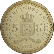 5 Gulden - Willem-Alexander / Beatrix (Sint-Maarten flag) – reverse
