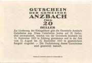 20 Heller (Anzbach) – reverse