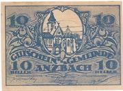 10 Heller (Anzbach) – obverse