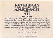 10 Heller (Anzbach) – reverse