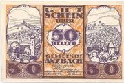 50 Heller (Anzbach) – obverse