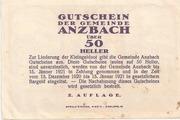 50 Heller (Anzbach) – reverse