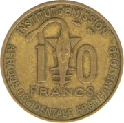 10 Francs Togo – reverse
