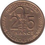 25 Francs Togo -  reverse