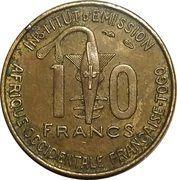 10 Francs Togo -  obverse