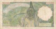 1000 Francs – reverse