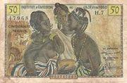 50 francs AOF et Togo – obverse