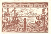 French West Africa 1944 1 Franc -  obverse