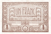 French West Africa 1944 1 Franc -  reverse