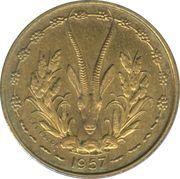 10 Francs Togo -  reverse