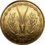 25 Francs Togo – reverse