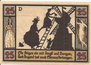 25 Pfennig (Silhouette Series - Issue D) – reverse