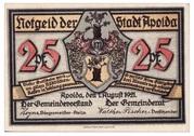 25 Pfennig (Silhouette Series - Issue F) – obverse