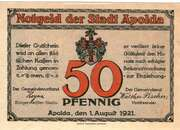 50 Pfennig (Rhyme Series - Issue A) – obverse