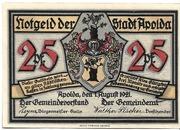 25 Pfennig (Silhouette Series - Issue C) – obverse