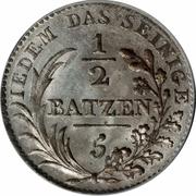 ½ Batzen / 5 Rappen – reverse