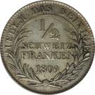 ½ Franken – reverse