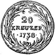 20 Kreuzer – reverse