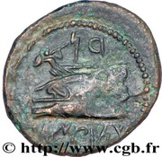 Dichalkos (Zeus and Hera, Athena over galley prow) – reverse