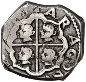2 Reales - Felipe IV (hammered) – reverse