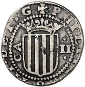2 Reales - Felipe IV (beaded circle) – obverse