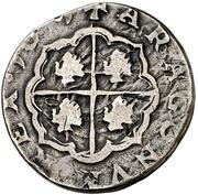 2 Reales - Felipe IV (beaded circle) – reverse