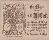 10 Heller (Arbing) -  obverse