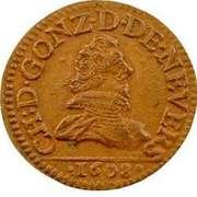 Double Tournois - Charles I (3rd type) – obverse
