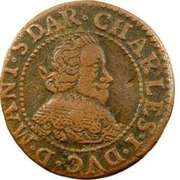 Double Tournois - Charles I (12th type) – obverse
