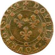 Double Tournois - Charles I (12th type) – reverse