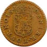 Denier Tournois - Charles I (1st type) – reverse