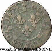Double Tournois - Charles I (10th type) – reverse