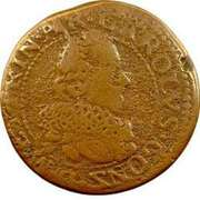 Double Tournois - Charles I (13th type) – obverse